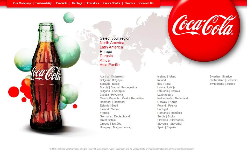 Redireccion SEO Home Coca Cola