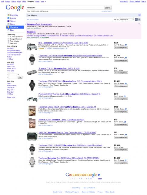 De compras con Google