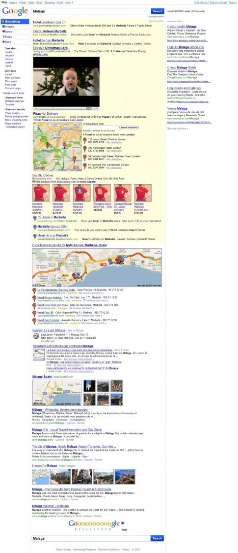 Google 5 resultados