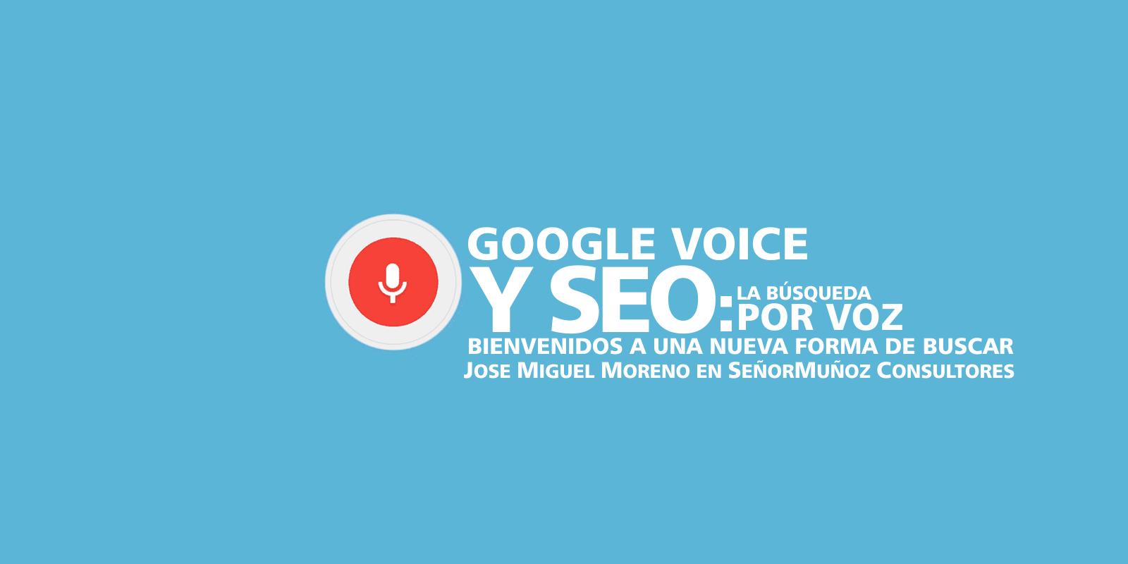 google voice y SEO