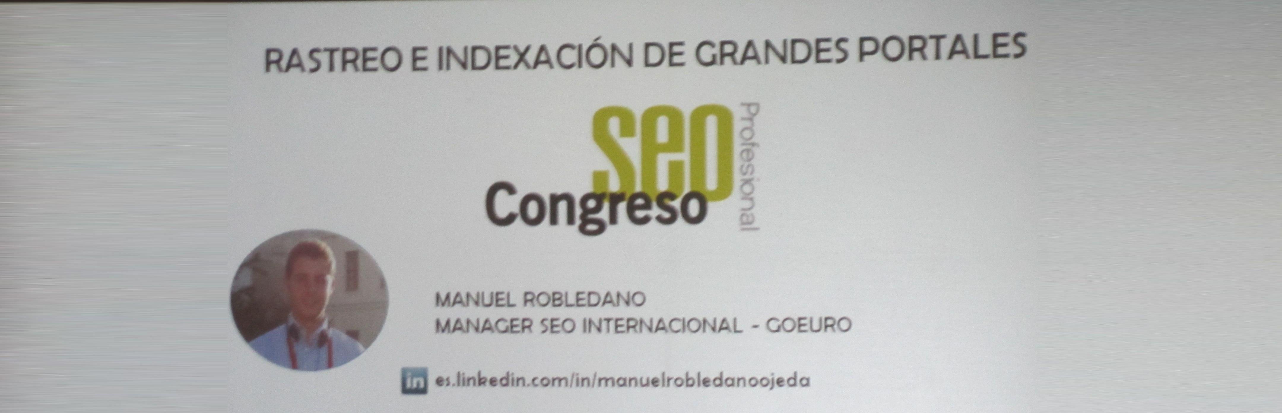 Rastreo e indexación de grandes portales. Manuel Robledano