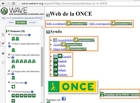 Web de la ONCE
