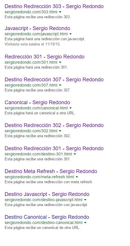 Redirecciones SEO, URLs Finales
