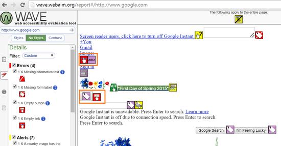 wave y google con sus atributos