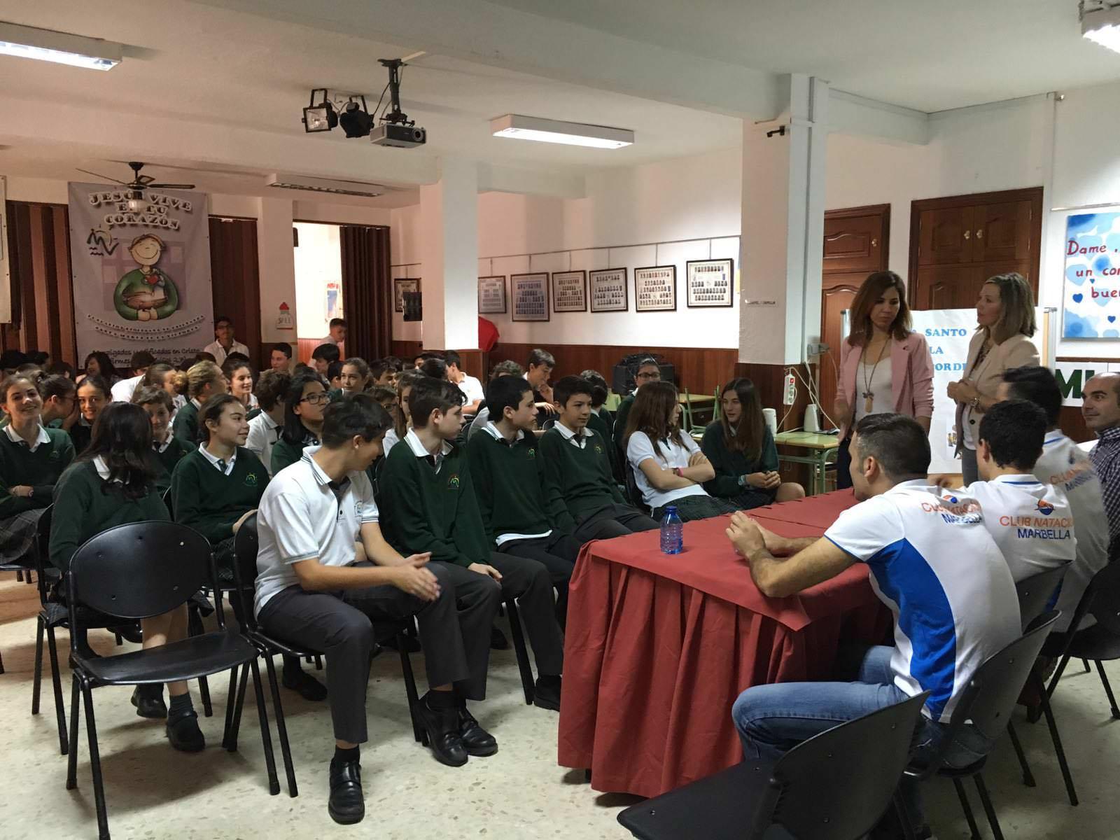 Charla en el Colegio Monseñor Bocanegra